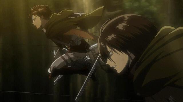 Mikasa y Levi Ackerman Shingeki no Kyojin