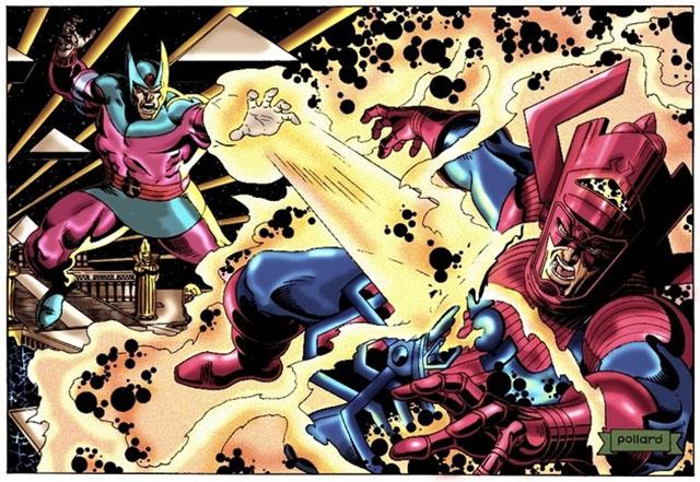 Sphinx enfrentando a Galactus con el poder de la Piedra de Ka
