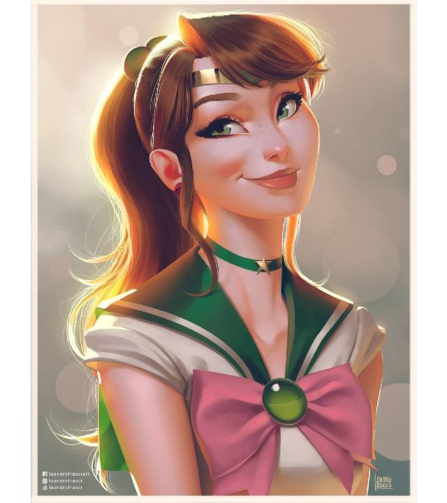 Sailor Moon: Artista rediseña a las Sailor Scouts con un estilo Disney