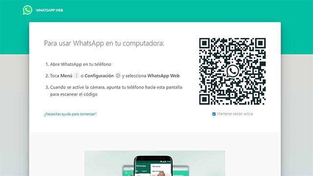 WhatsApp Web usa un Código QR para iniciar sesión