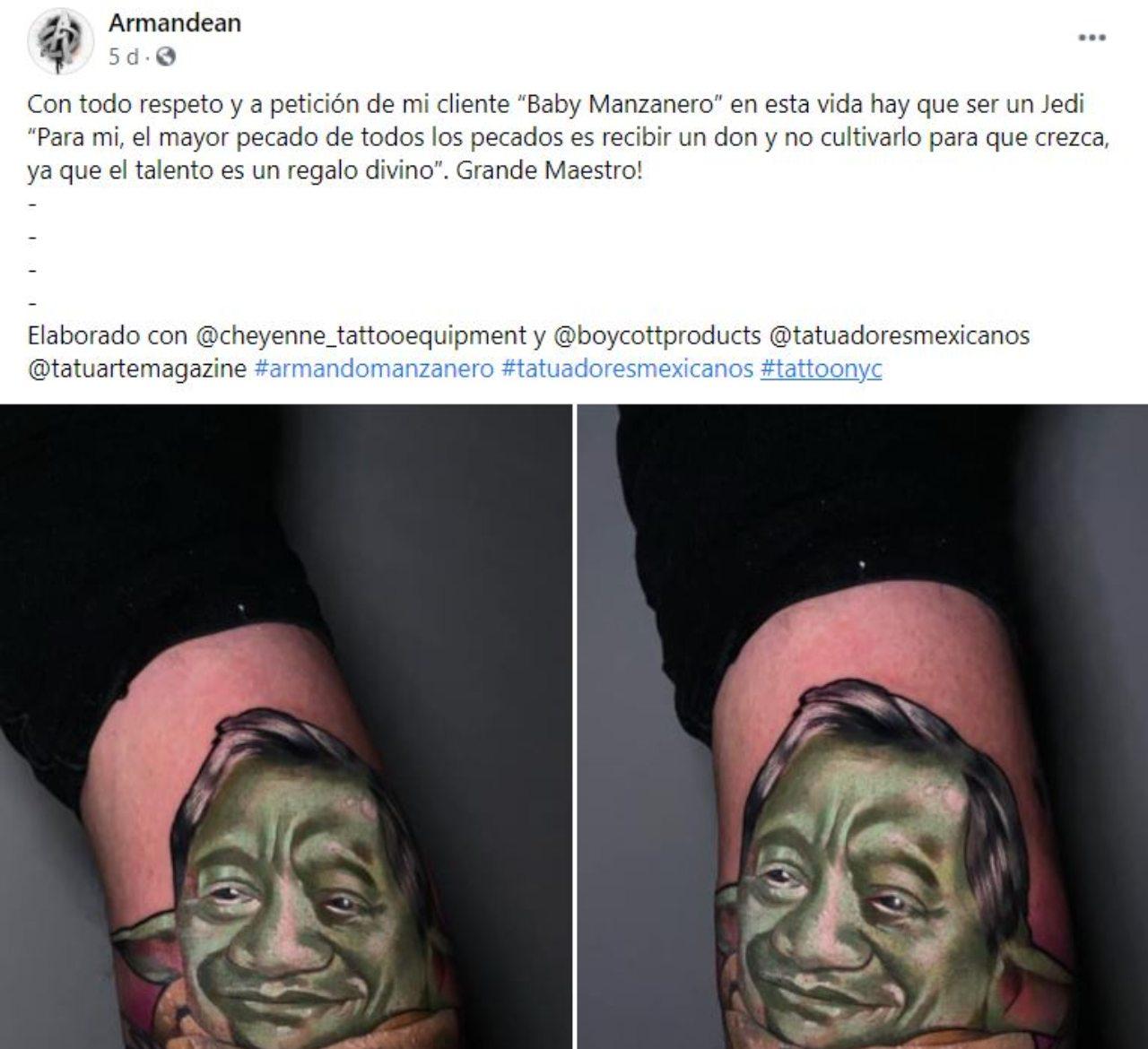Tatuaje de Baby Manzanero