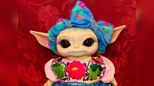 Baby Yoda Lady Tacos de Canasta