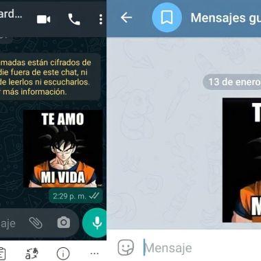 Cómo pasar stickers de WhatsApp a Telegram.