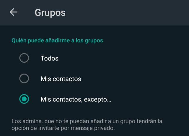 configuracion de grupos whatsapp