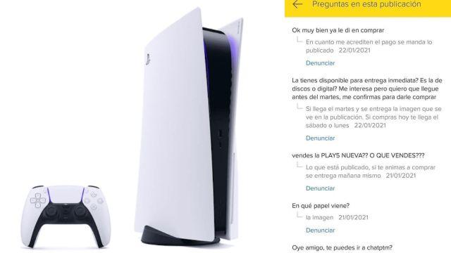 Venden hoja impresa de la consola PlayStation 5 en internet