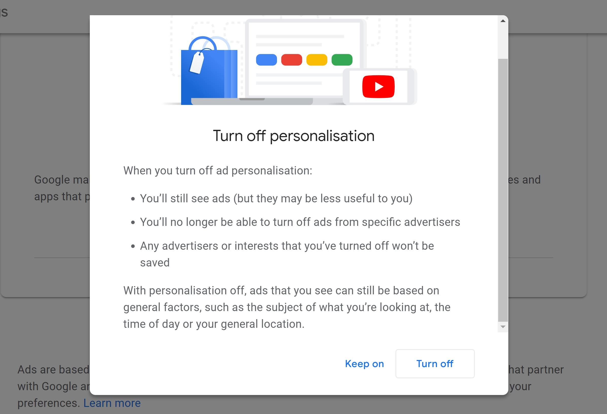 google personalización de anuncios
