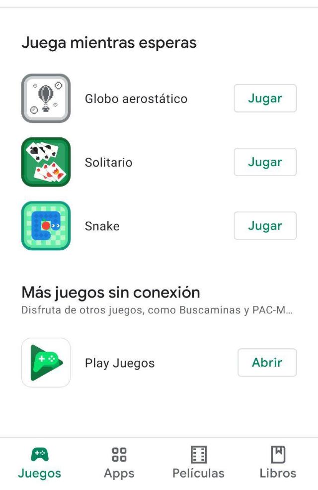 Juegos sin conexión en Google Play