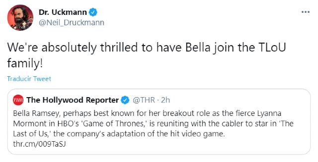 Bella Ramsey será Ellie en The Last of Us