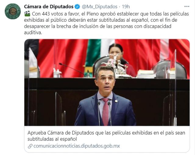 Cines mexicanos proyectarán todas sus películas con subtítulos en español