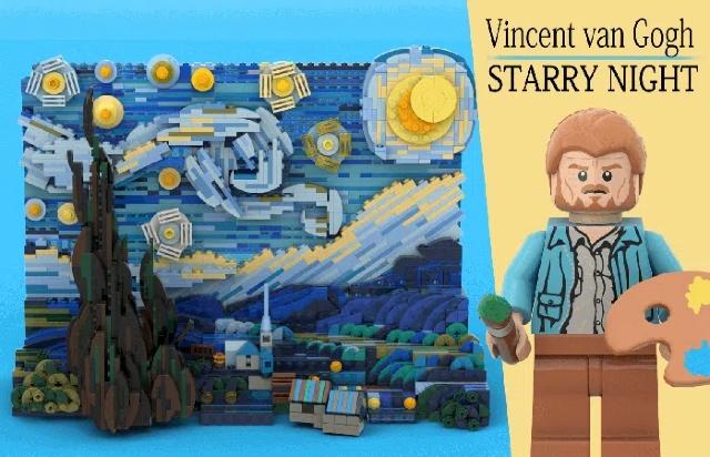 LEGO recreará set con La Noche Estrellada de Vincent van Gogh