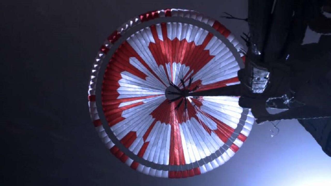 Paracaídas Rover Perseverance