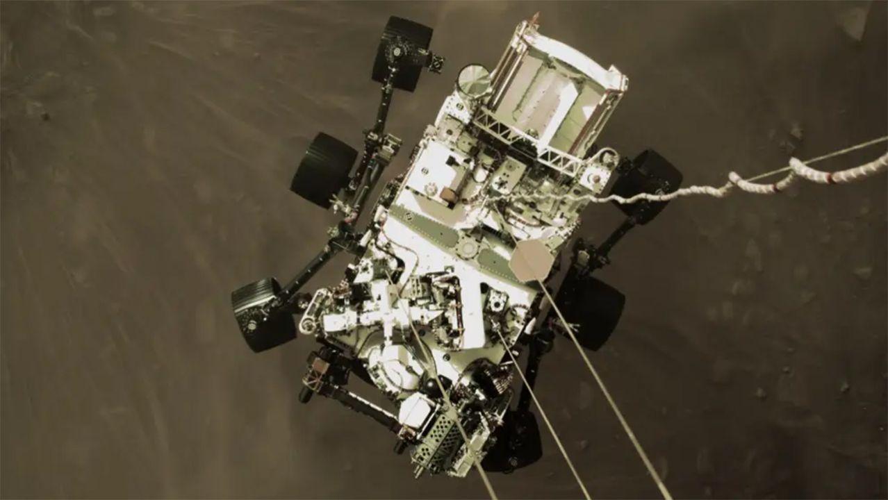 Perseverance Marte aterrizaje foto NASA