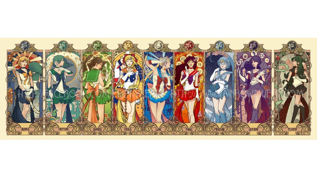 Artista imagina a las Sailor Scouts como Cartas Clow de Sakura Card Captor