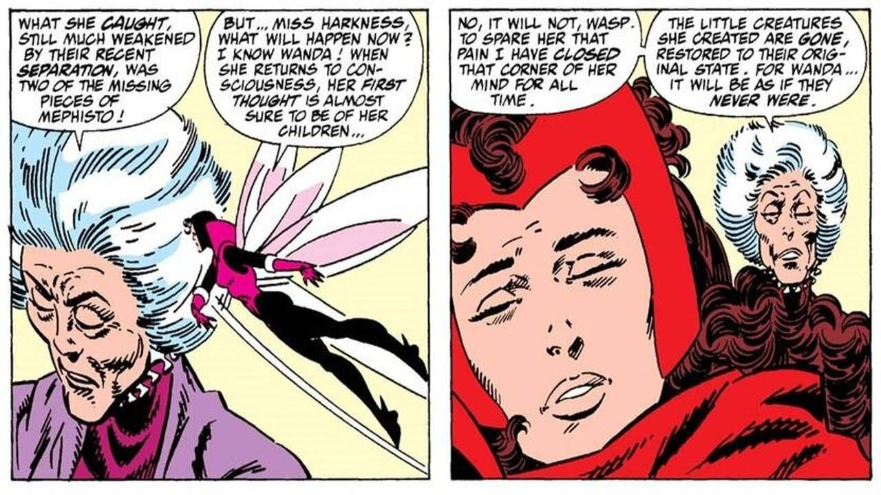 agatha harkness wasp scarlet wicht marvel comics