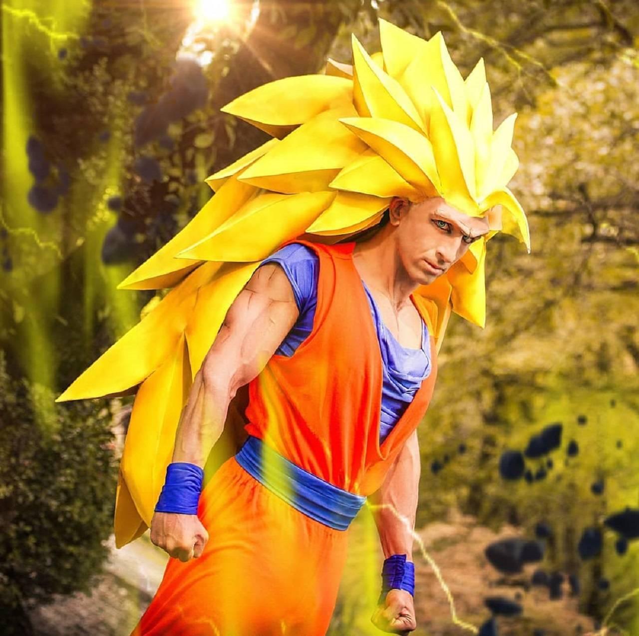 Super Sayajin 3 Goku Dragon Ball Cosplay