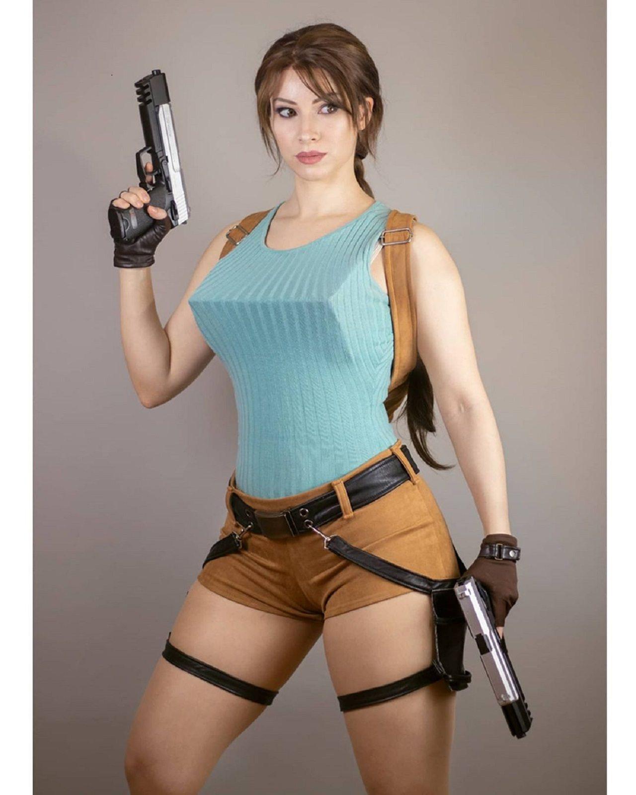 Lara Croft Cosplay Tomb Raider Primer Videojuego