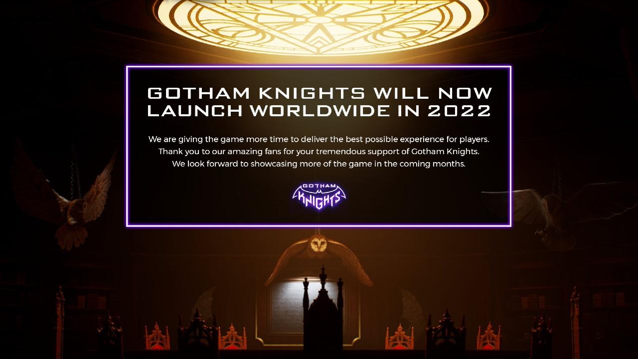 DC Comics Warner retrasa lanzamiento Gotham Knights
