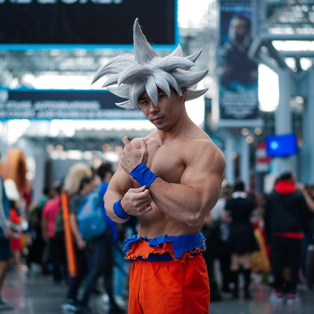 cosplay Goku Ultra Instinto Saiyan Army
