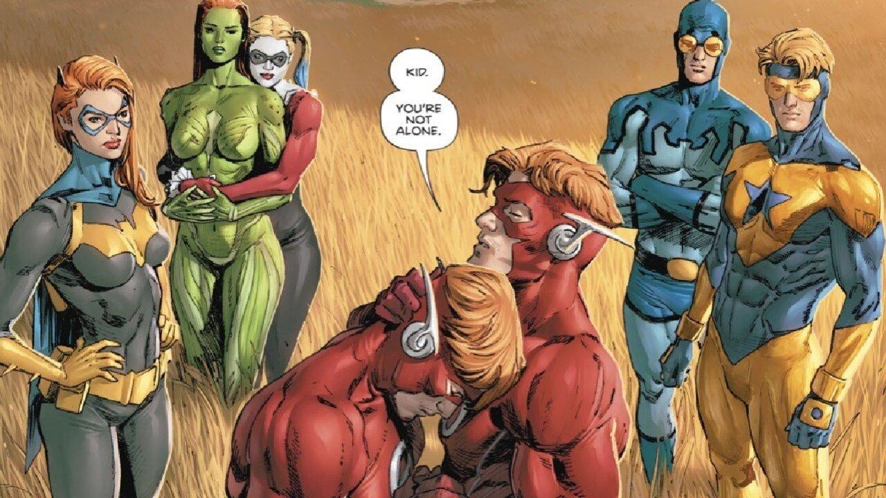 wally west viaje en el tiempo dc comics