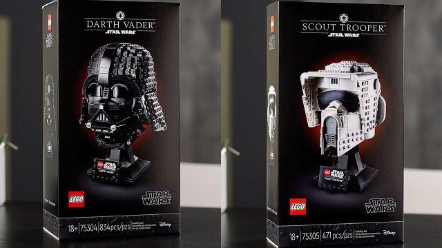 LEGO Star Wars sets cascos Darh Vader Scout Trooper