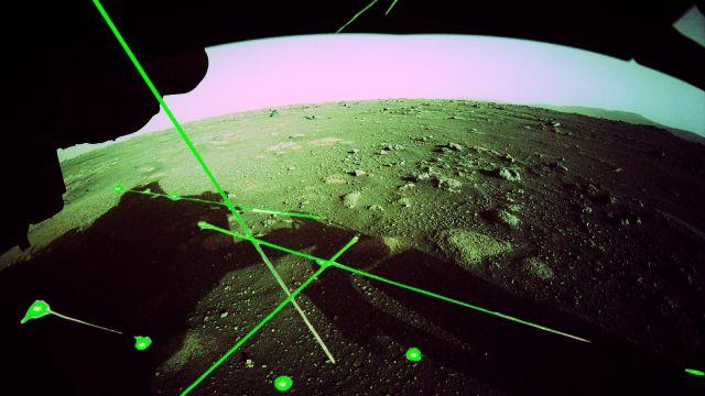 NASA rover Perseverance Marte rayos láser