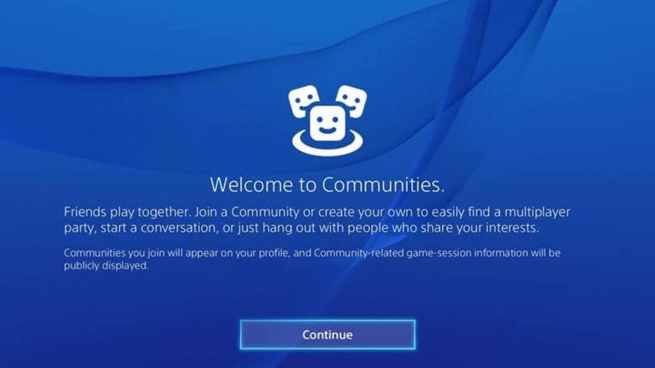 PlayStation 4 elimina Comunidades actualización abril