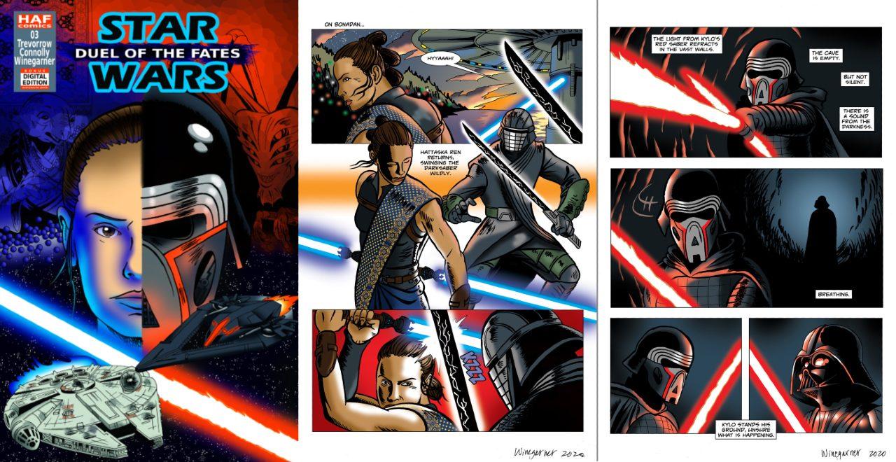 Star Wars adaptan guion de Duel of the Fates a un cómic