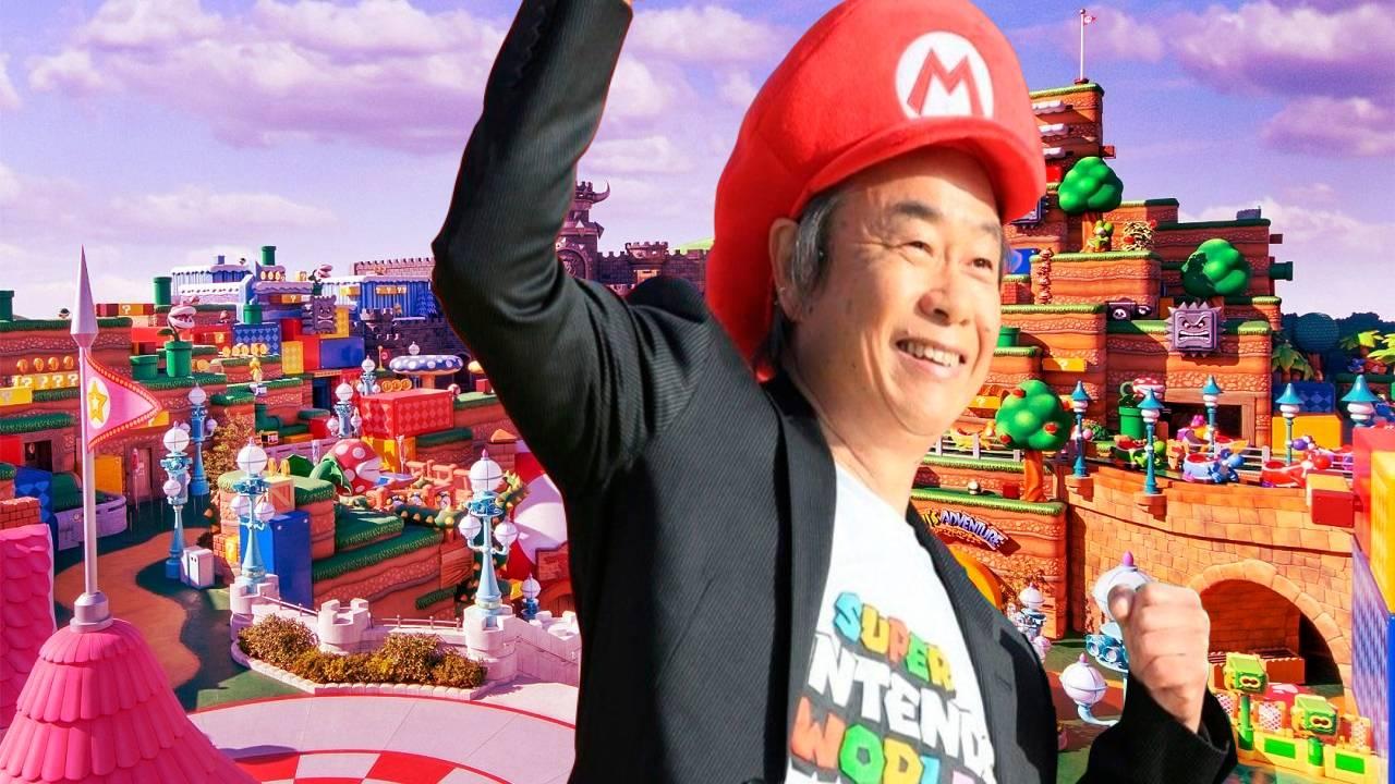 Shigeru Miyamoto Mario Bros. Super Nintendo World