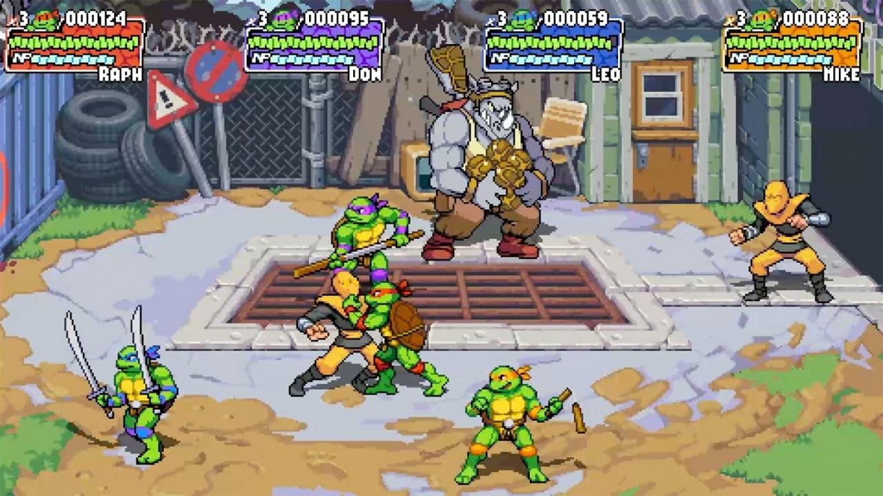 Nuevo juego retro de las tortugas ninja