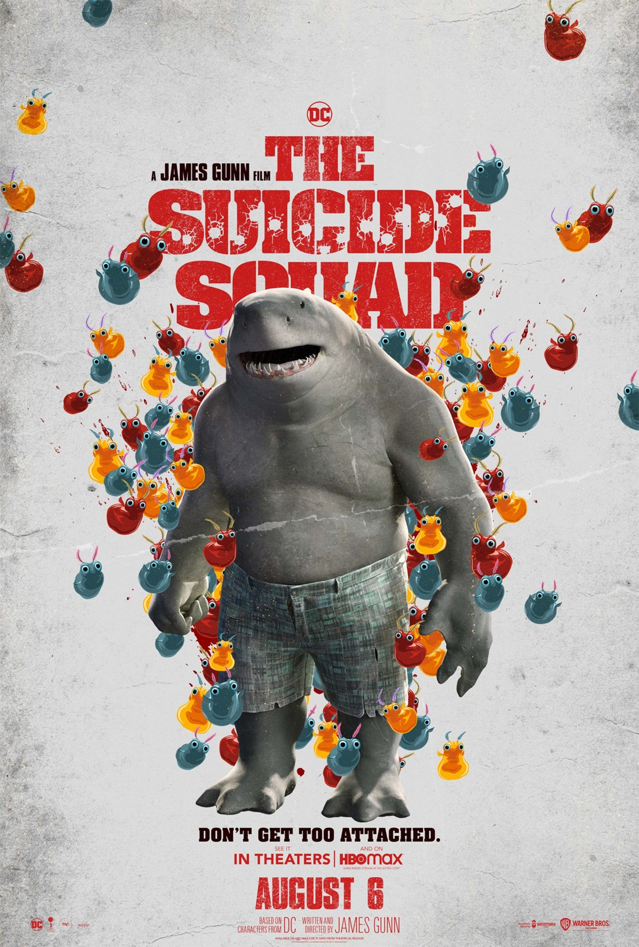 The Suicide Squad Sylvester Stallone King Shark Póster