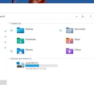 Windows 10 actualización cambios carpetas diseño