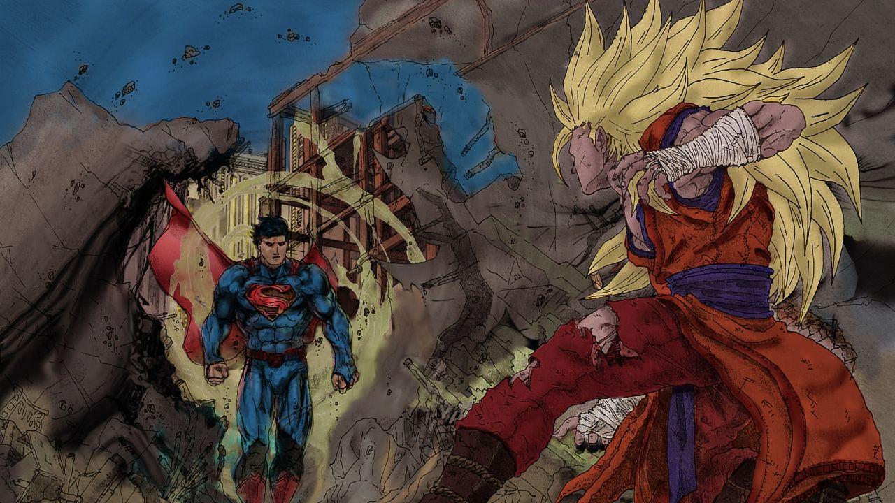 goku contra superman ilutracion comic (1)