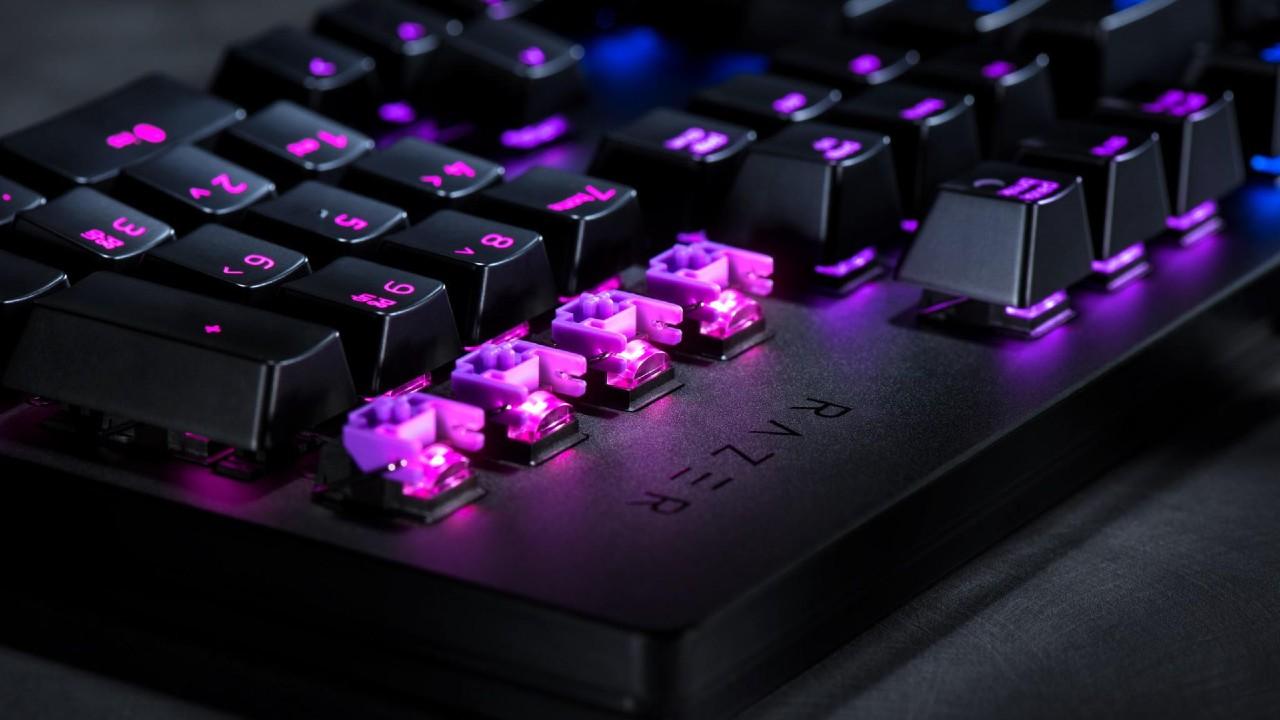 switcher opticos de los teclados gamer razer
