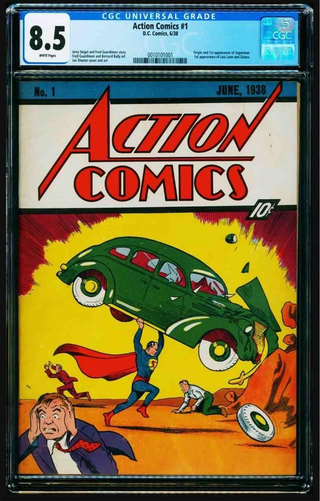 Primer Cómic de Superman Action Comics DC Comics