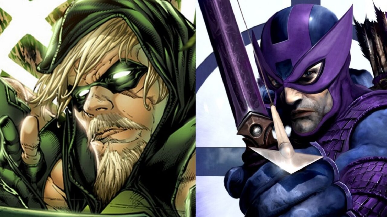 green arrow hawkeye marvel dc comics