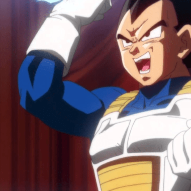 vegeta dragon ball película baile bingo