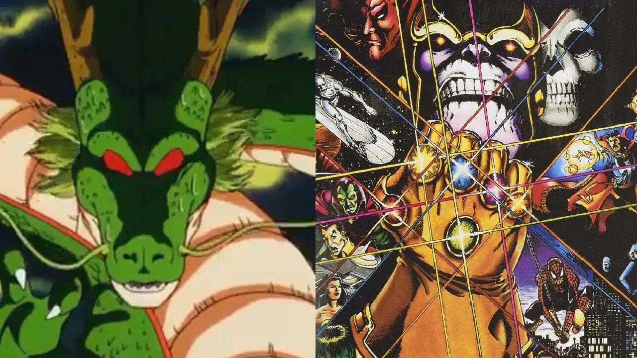 dragon ball marvel esferas del dragon gemas del infinito