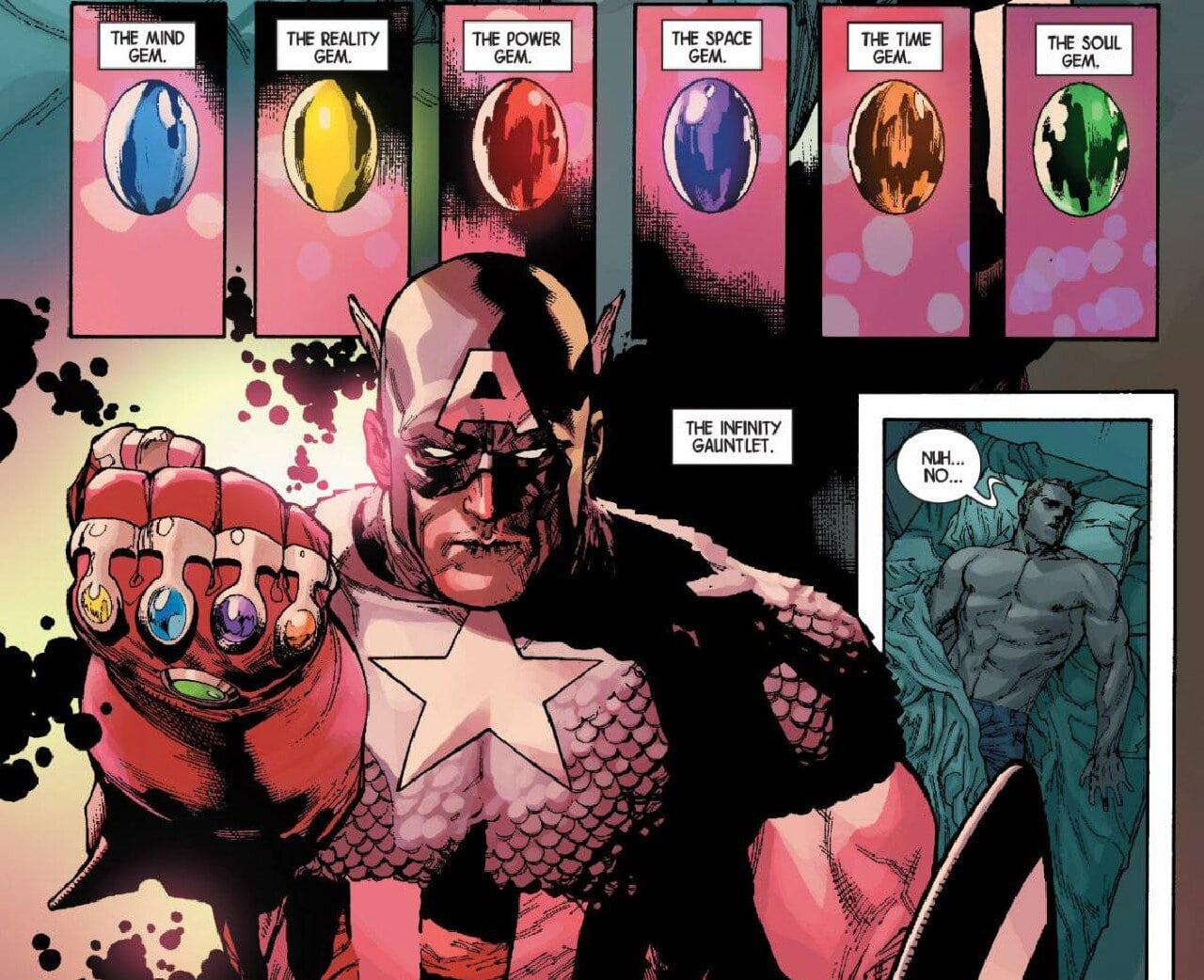 capitán américa gemas del infinito marvel comics