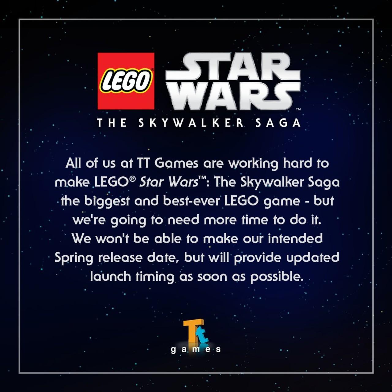 LEGO Star Wars The Skaywalker Saga retraso fecha lanzamiento