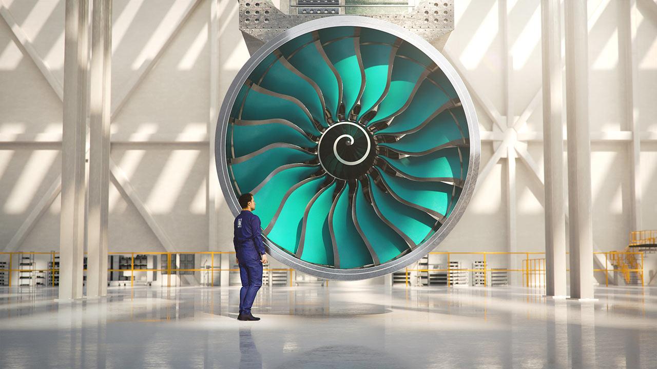 Rolls-Royce turbina UltraFan UF001