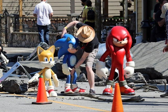 Sonic The Hedgehog 2 Grabaciones de la Película Knuckles  Sonic Tails