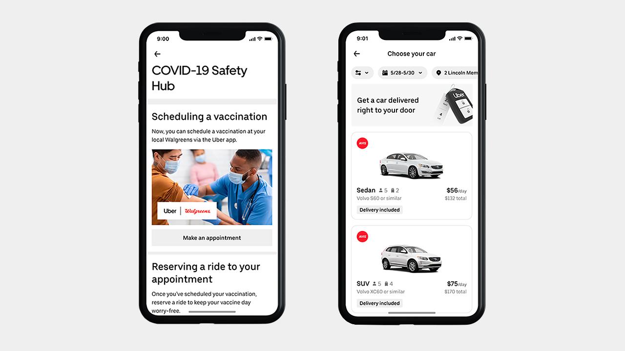 Uber app vacunación Walgreens