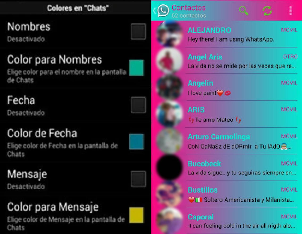 whatsapp plus diseño personalización