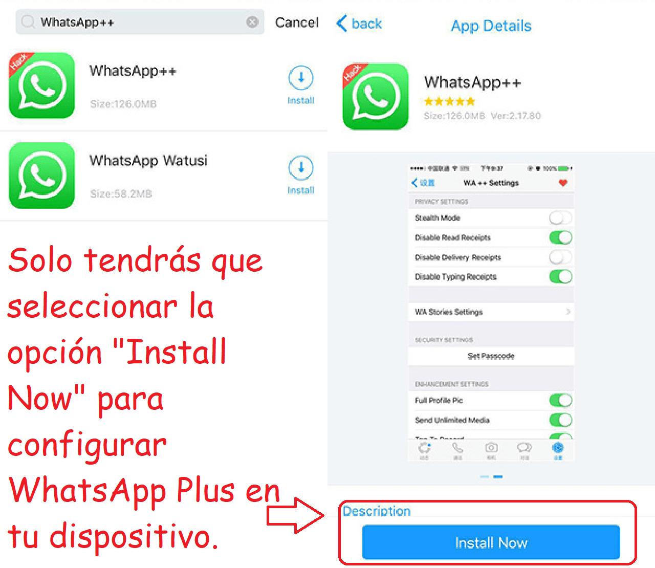 whatsapp plus appvalley instalar aplicación