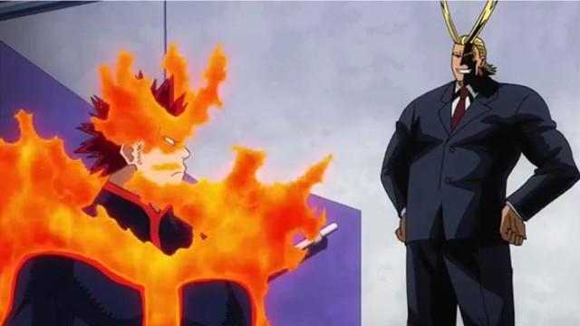 endeavor platica con all might anime boku no hero