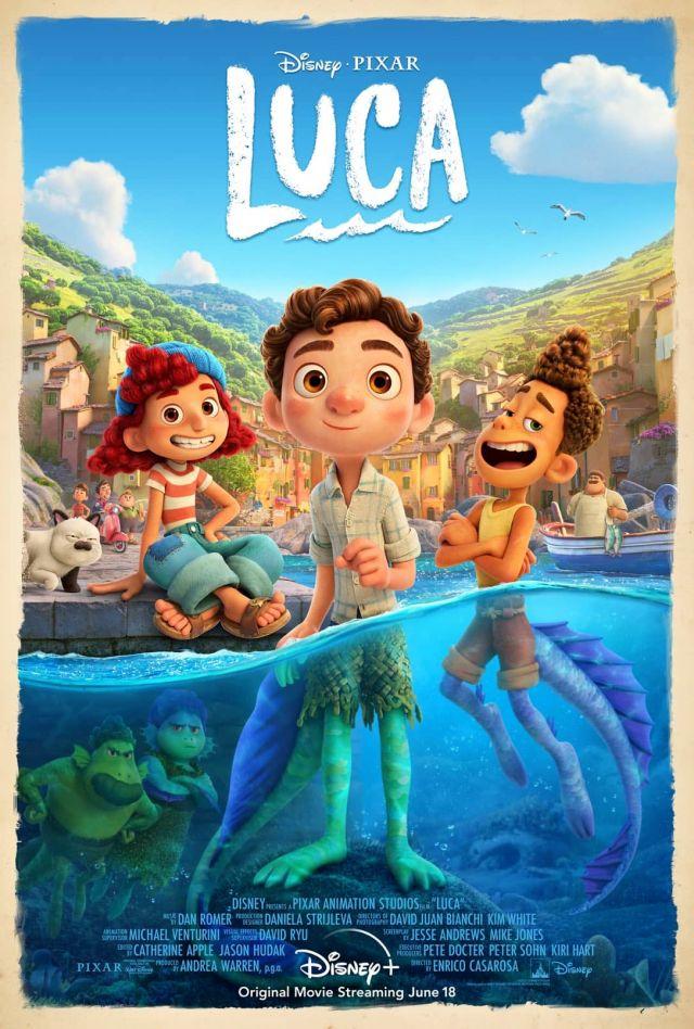 Este es el poster de Luca, la película de Pixar