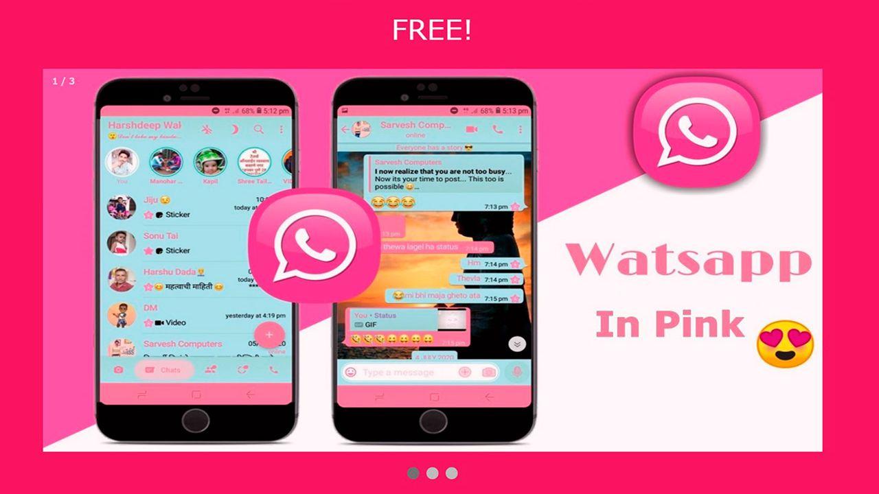 Así funciona WhatsApp Pink