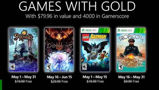 Games with Gold para mayo