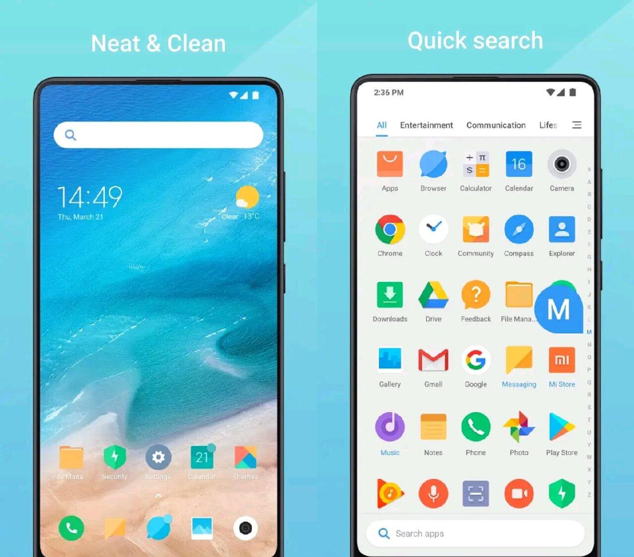android xiaomi teléfono interfaz configuración sistema