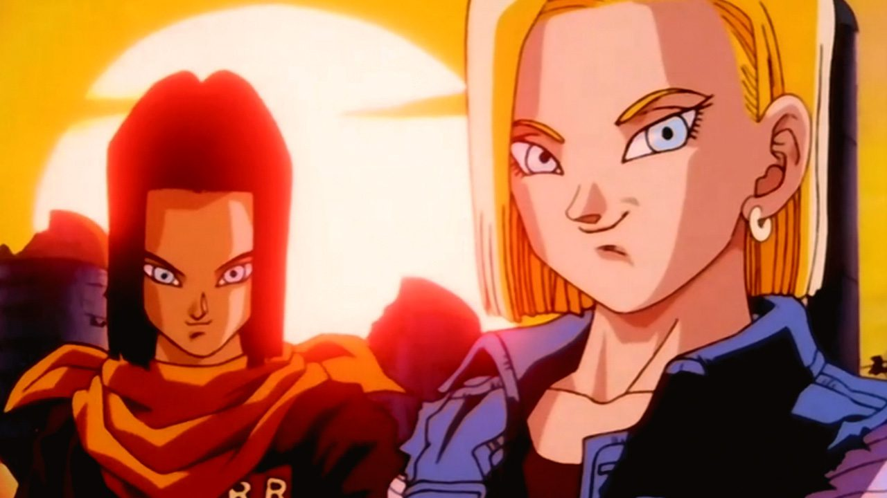 dragon ball z gt 18 y 17 androides